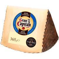 Queso semicurado GRAN CAPITAN, cuña 365 g
