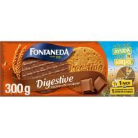 Galleta Digestive de chocolate con leche FONTANEDA, caja 300 g