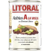 Alubias a la vasca LITORAL, lata 430 g