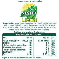 Refresco de té al limón sin azúcar NESTEA, lata 33 cl