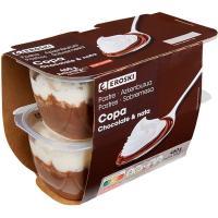 Copa de chocolate-nata EROSKI, pack 4x115 g