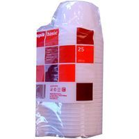 Taza de plástico 200 cc NUPIK, pack 25 unid.