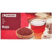 Té rojo EROSKI, caja 20 sobres