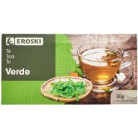 Té verde EROSKI, caja 20 sobres