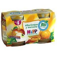 Potito biológico de albaricoque-manzana HIPP, pack 2x125 g