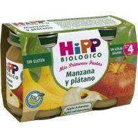 Potito biológico de manzana-plátano HIPP, pack 2x125 g