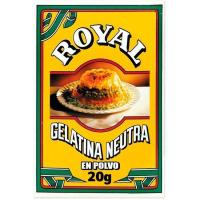 Gelatina neutra en polvo ROYAL, caja 20 g