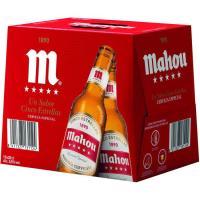 Cerveza MAHOU 5 Estrellas, pack botellín 12x25 cl