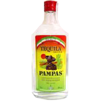 Tequila mejicano PAMPAS, botella 70 cl