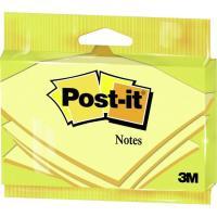 Notas adhesivas de 76x127mm, 100 hojas amarillas POST-IT