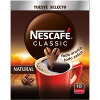 Café soluble natural NESCAFÉ, caja 10 sobres