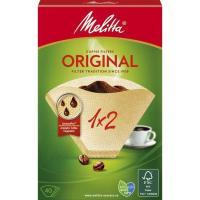 Filtro de café 1x2 MELITTA, caja 40 unid.
