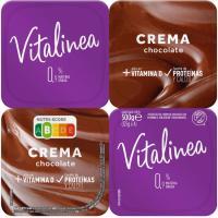 Postre lácteo crema de chocolate 0% VITALINEA, pack 4x125 g