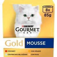 Mousse para gato FRISKIES Gourmet Gold, pack 8x85 g