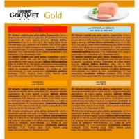 Mousse para gato GOURMET Gold, pack 8x85 g