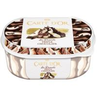 Helado triple de chocolate CARTE D'OR, tarrina 500 g