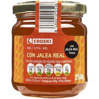 Miel con jalea real EROSKI, frasco 250 g