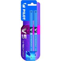 Bolígrafo Hi-Tecpoint Rollerball punta aguja 0.5mm, tinta azul V-5 PILOT, 2uds
