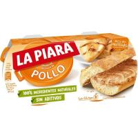 Paté de pollo natural LA PIARA, pack 2x75 g