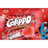 Helado de fresa CALIPPO, 5 uds., caja 525 g