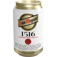Cerveza SAN MIGUEL 1516, lata 33 cl