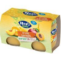 Tarrito de frutas variadas desde 4º mes HERO, pack 2x120 g