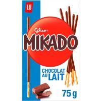 Mikado de chocolate con leche LU, caja 75 g