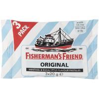 Caramelo sin azúcar FISHERMAN`S, pack 3x20 g