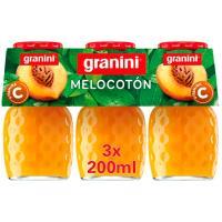 Zumo de melocotón GRANINI, pack 3x20 cl