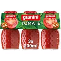 Zumo de tomate GRANINI, pack 3x20 cl