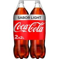 Refresco de cola light COCA COLA, pack 2x2 litros