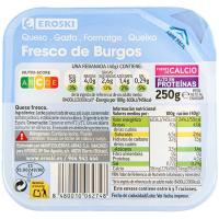 Queso fresco de Burgos EROSKI, tarrina 250 g