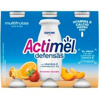 Yogur para beber multifrutas ACTIMEL, pack 6x100 ml