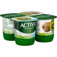 Activia 0% con kiwi DANONE, pack 4x120 g