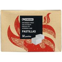 Pastilla para encendido de fuego EROSKI, caja 32uds
