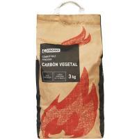 Carbón vegetal EROSKI, saco 3 Kg