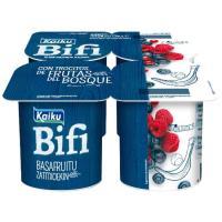 Yogur Bifi Activium con frutas del bosque KAIKU, pack 4x125 g