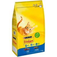 Alimento de salmón-trucha-atún gato adulto FRISKIES, saco 1,5 kg