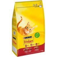 Alimento de buey-pollo-ternera gato adulto FRISKIES, saco 1,5 kg