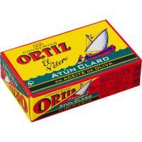 Atún claro en aceite de oliva ORTIZ, lata 112 g