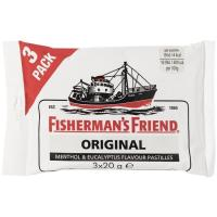 Caramelos original FISHERMAN`S, pack 3x20 g