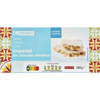 Turrón imperial sin azúcar EROSKI, caja 200 g