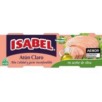 Atún claro en aceite de oliva ISABEL, pack 3x80 g