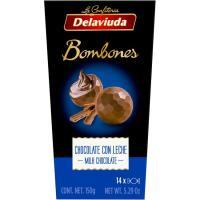 Bombones de chocolate con leche DELAVIUDA, caja 150 g