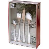 Cuberteria cuarzo, inox 18/10, cuchara, cuchillo, tenedor, cucharilla JAY, 24uds