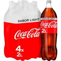 Refresco de cola light COCA COLA, pack 4x2 litros