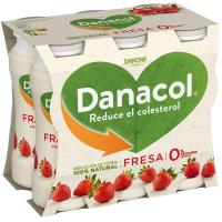 Danacol para beber de fresa DANONE, pack 6x100 ml