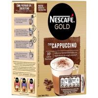 Café capuccino NESCAFÉ Gold, caja 10 sobres
