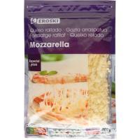Queso rallado Mozzarella EROSKI para pizza, bolsa 200 g