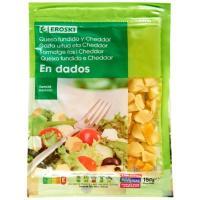 Queso en dados para ensalada EROSKI, bolsa 150 g